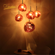 Modern Design LED Pendant Lights Coffee PVC Lamp Study Kitchen Fixtures Villa Duplex Apartment Hanging Indoor decor