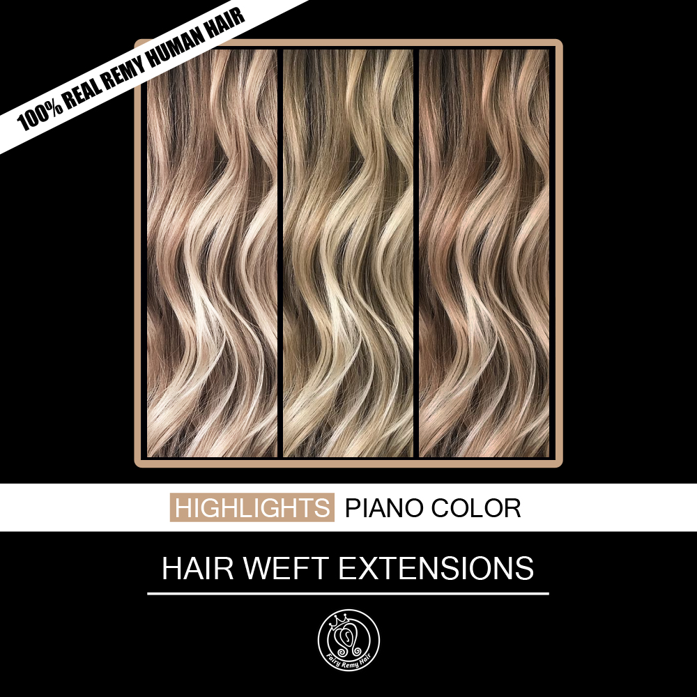 Fairy Remy Hair 100g 120g 16-22 Inch Real European Straight Human Hair Bundles Weft Highlights Piano Color Human Remy Hair Weave