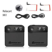 Relacart Mi1 Microphone Wireless Transmitter Kit 3.5mm TRS Lavalier 2.4G Condenser Microphone for DSLR Camera Cellphone Monitor