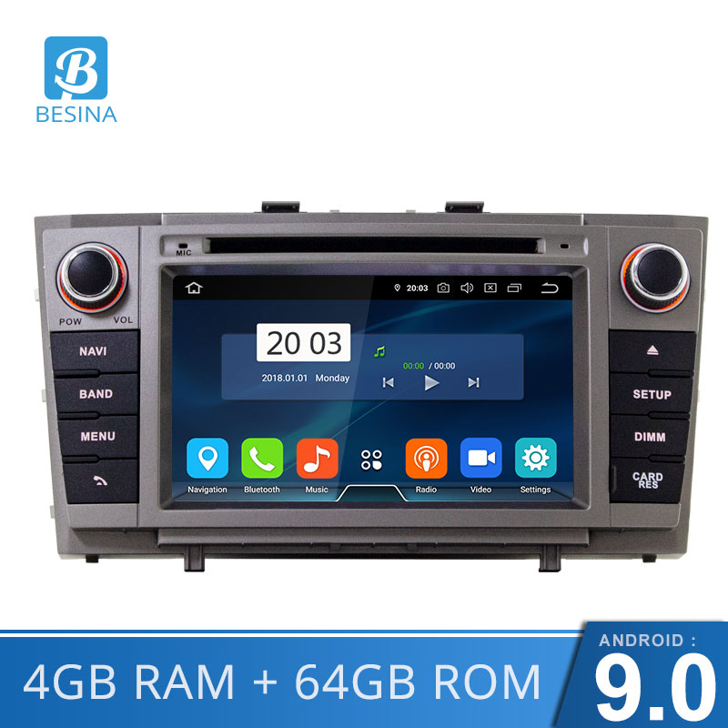 Besina <font><b>Android</b></font> 9.0 Car DVD Player For <font><b>Toyota</b></font> Avensis/<font><b>T27</b></font> 2008-2013 Multimedia GPS Navigation WIFI 2 Din Car Radio 4G+64G Stereo image