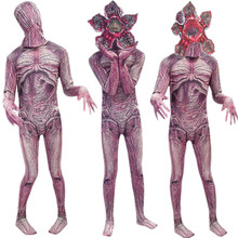 Adult Kids Stranger Things Demogorgon Cosplay Costume The Monster Jumpsuit Mask Halloween