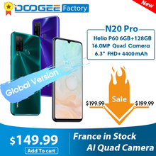 DOOGEE Helio P60 N20 Pro Smartphone 6GB 128GB WCDMA/GSM/LTE Octa Core Fingerprint Recognition/face Recognition