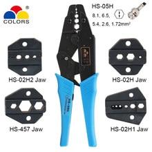 HS-05H alicate de crimpagem conector coaxial, conjunto de garra rg55 rg58 rg59, 62, relden 8279,8281,9231,9141, 4c, ferramentas de braçadeira coaxial de csma, 5c, 7