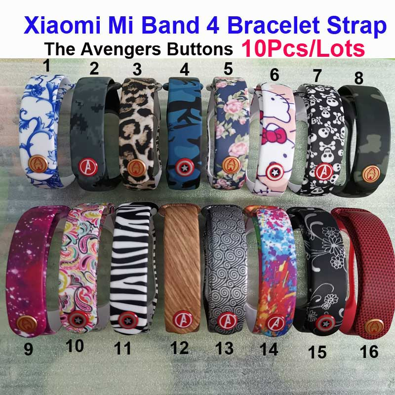 Mi Band 4 Strap For Original Xiaomi Mi Band 4 Silicone Bracelet Smart Wristband Miband 4 Color Wrist Belt Correa Pulsera 10 Pcs in Smart Accessories from Consumer Electronics