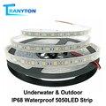 IP67 IP68 Wasserdichte LED Streifen 5050 DC12V Hohe Qualität Unterwasser & Outdoor Sicherheit RGB LED Streifen Licht 300LEDs 60 LEDs/M 5 mt/los
