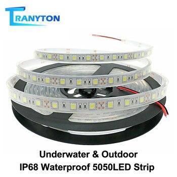 IP67 IP68 Waterproof LED Strip 5050 DC12V High Quality Underwater & Outdoor Safety RGB LED Strip Light 300LEDs 60LEDs/M 5m/lot
