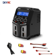 SKYRC T100 DUAL 5A 2X50W Balance Charger for 2 4S LiPo/LiIon/LiFe/LiHV Battery RC FPV Racing Drone Quadcopter Model RC Parts