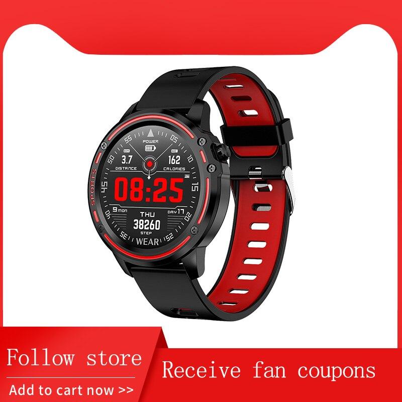 Nouveau L8 montre intelligente IP68 étanche hommes ECG + PPG pression artérielle fréquence cardiaque Fitness Tracker sport Smartwatch VS L5 L7