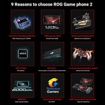 """Global Firmware Asus ROG Phone 2 8GB 128GB Gaming SmartPhone ROG Phone II ZS660KL 6.59"""" Snapdragon 855+ 6000mAh Mobile Phone 1"""