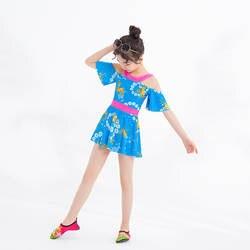Детский купальный костюм для девочек, детский купальный костюм для девочек 1, 2, 3, 4, 5 лет, Маленькая детская юбка, цельный