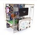 Универсальная материнская плата MATX ITX, простой кронштейн, многослойный прозрачный корпус, может вместить 2 жестких диска с графикой