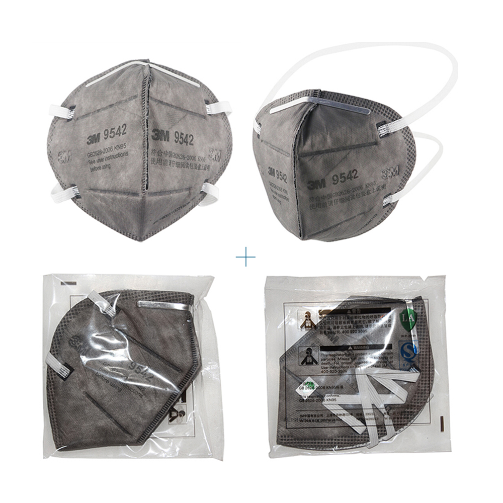 Image 4 - 3M 9542 25Pcs/BOX KN95 Mask Breathable Protective Mask Safety Masks 95% Filtration Active Carbon  for Dust Particulate PollutionMasks   -