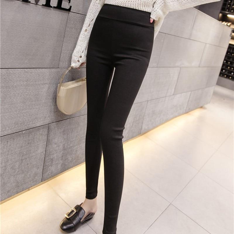 Women Solid Color Pants Trouser Stretch Pants & Capris High Waist Pants Women Leggings Women's Clothing Hot