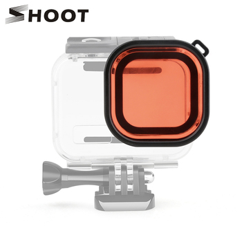SHOOT Red Filter for GoPro Hero 9 8 Waterproof Case Lens Filter for GoPro 9 8 Black Action Camera Housing Case Go Pro Accessory for gopro accessories protective frame case camcorder housing case for gopro hero 8 black action camera