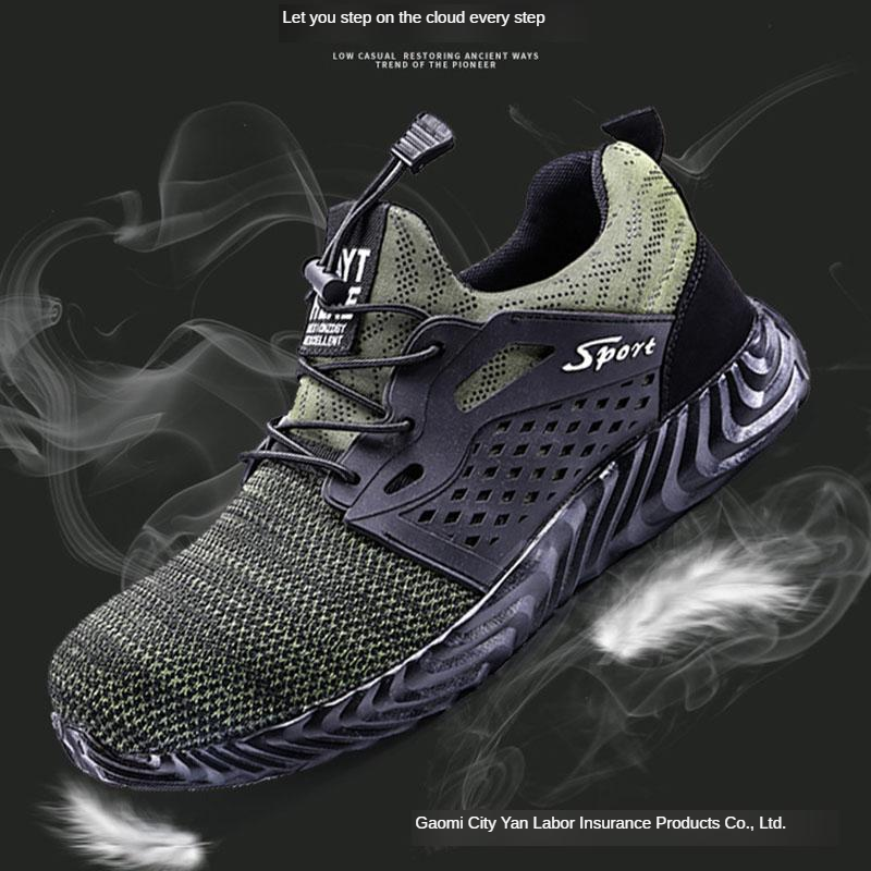 Safety Shoes Protective Shoes Safety Shoes Men's Anti-smashing And Anti-penetration Deodorizing Breathable Casual Comfortable Wo