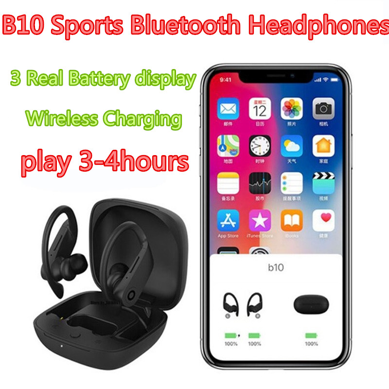 TWS B10 Wireless Bluetooth Power Earphone Gaming Headset Sports Earbuds beatting Headphones with Wireless Charging Box PK i Pro image