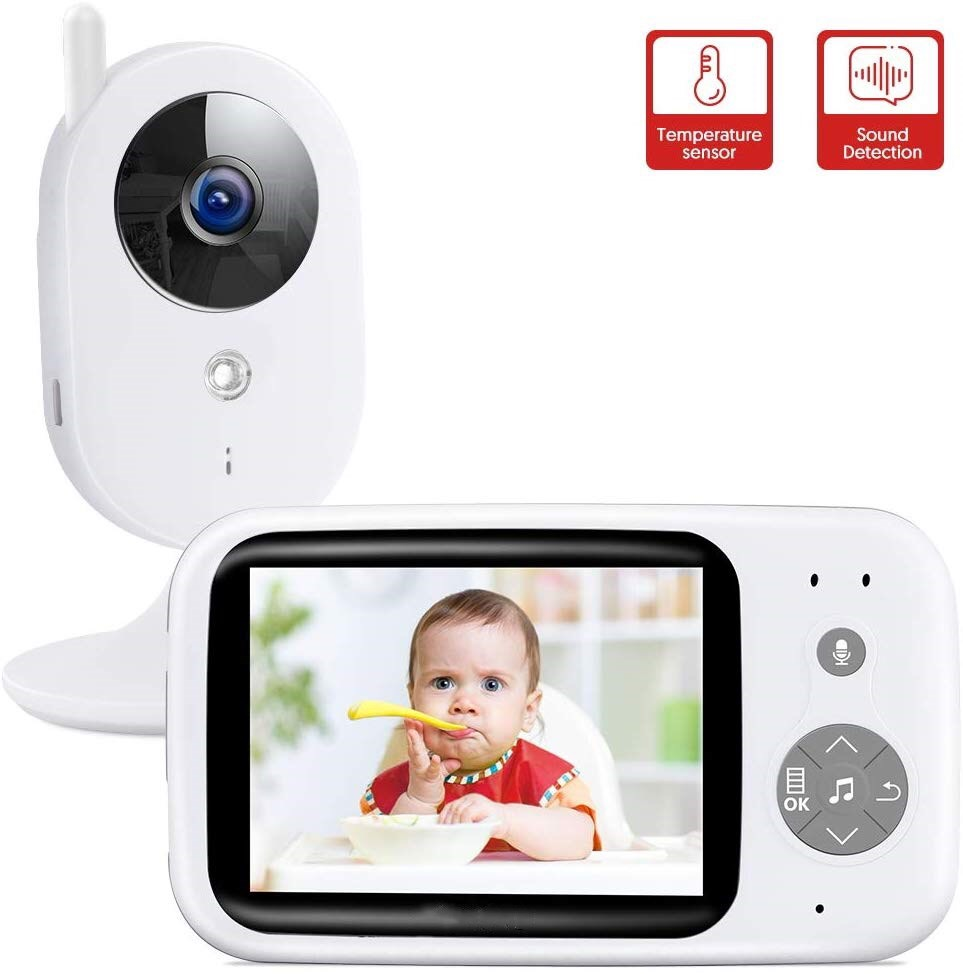 Wireless Video Color Baby Sleeping Monitor With 3.2Inches LCD 2 Way Audio Talk Night Vision Surveillance Security Camera Monitor