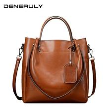 Womens Genuine Leather handbag pure leather sac main femme high capacity top-handle bags luxury women bag designer crossbody