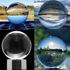 Fotografie Glas Kristall Ball mit Stand 50/80mm Kugel Fotografie Foto Schießen Requisiten Objektiv Klar Künstliche Ball Decor geschenk