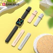 SANLEPUS מהיר שינוי להקת שעון חכם שעון רצועת Smartwatch להקת עבור SW93 (18mm)