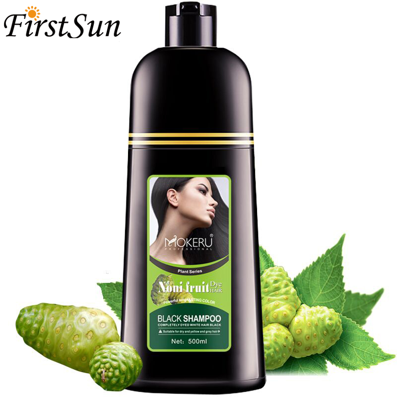 500ml Fast Black Hair Dye Shampoo Natural Black Colorant Organic For Men Women Hair Coloring Products For Cover Gray White Hair