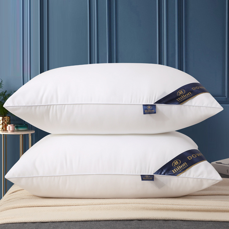Hilton solid color hotel home pillow manufacturers direct pillow five star hotel pillow core vacuum compression packaging