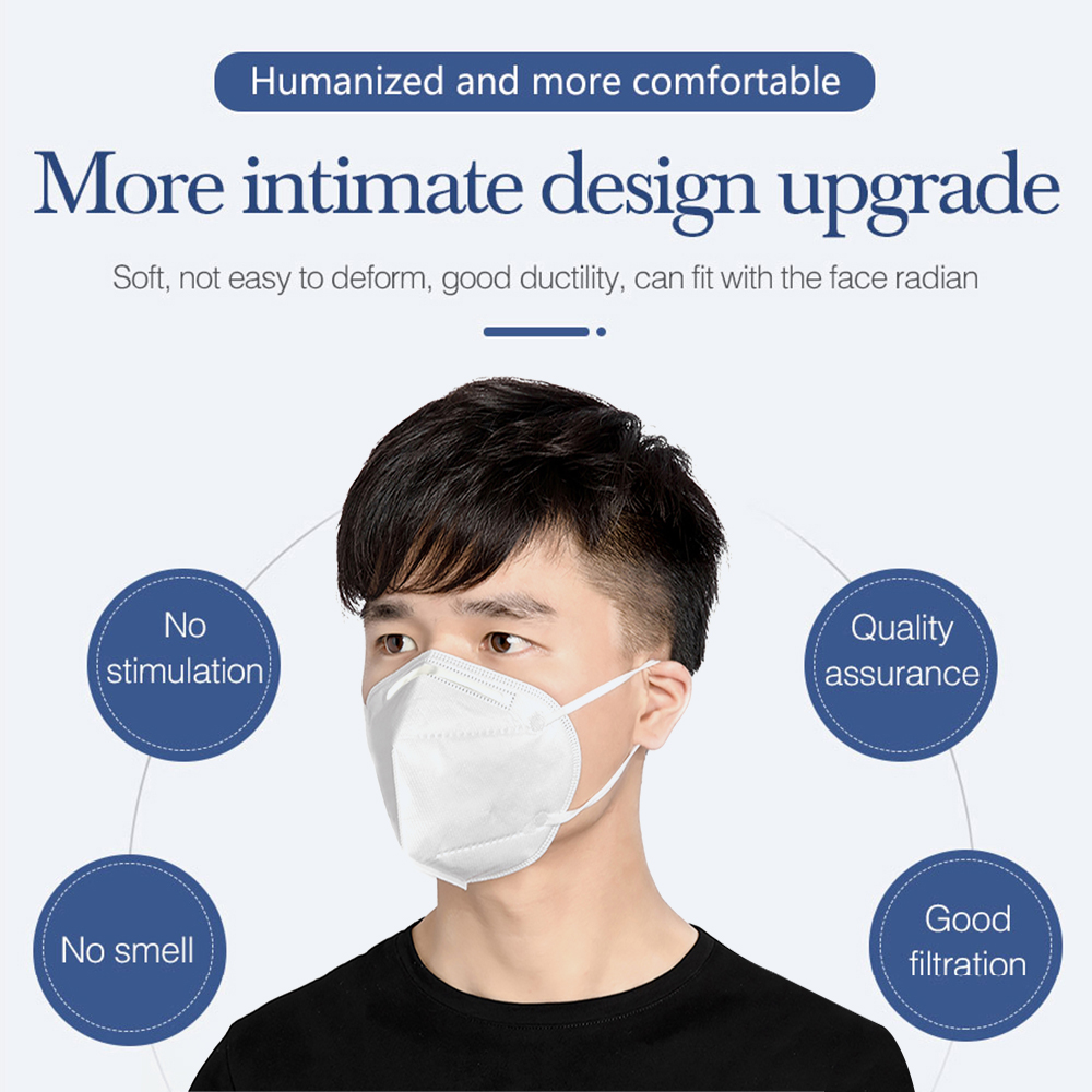 10 pcs KN95 Dustproof Anti-fog And Breathable Face Masks 95% Filtration Masks Features 5