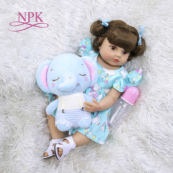 55CM NPK reborn baby toddler girl very soft full body silicone doll bath toy lifelike real soft touch bath toy Christmas Gift 1