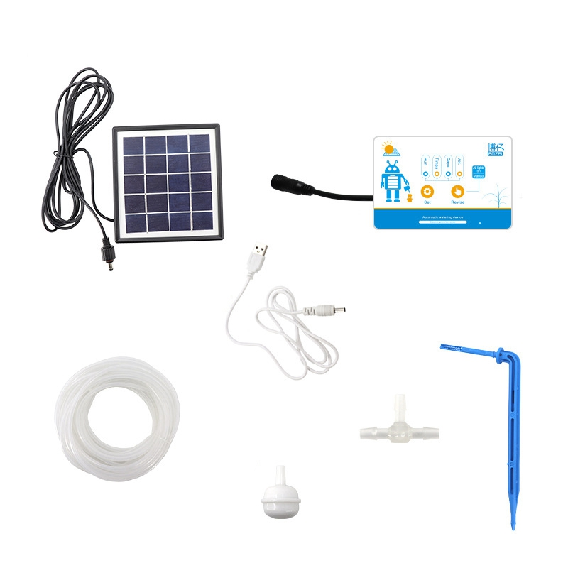 Solar Energy Charging Intelligent Garden Automatic Watering Device Potted Plant Drip Irrigation Water Pump Timer System
