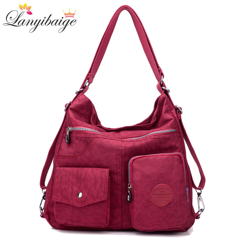 Luxury Handbags Women Bags Designer Waterproof Nylon Cloth Crossbody Bags For Women 2019 Large Capacity Lady Shoulder Bag Tote