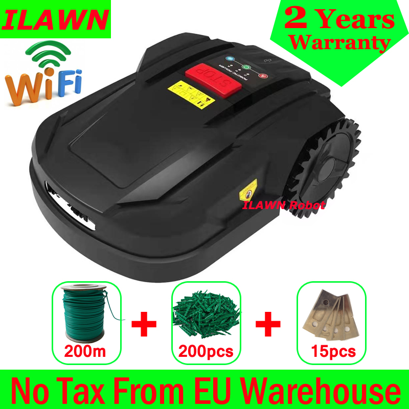 The 7th Cheapest Mini Robot Lawn Mower H750 With WIFI APP,Gyroscope Navigation,Water-proofed Charger,Subarea+Range Function