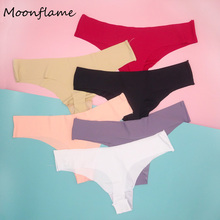 Moonflme 5 pcs/lots Sexy G-String Seamless Nylon Women Thongs M L XL 87393