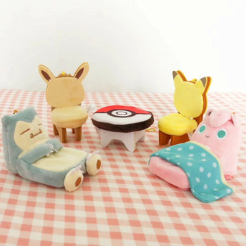 POKEMON Plush Toy Furniture Chair Bed Table TAKARA TOMY Pocket Monster Pikachu Poké Action Figure game Model Toy For Kid Gift недорого