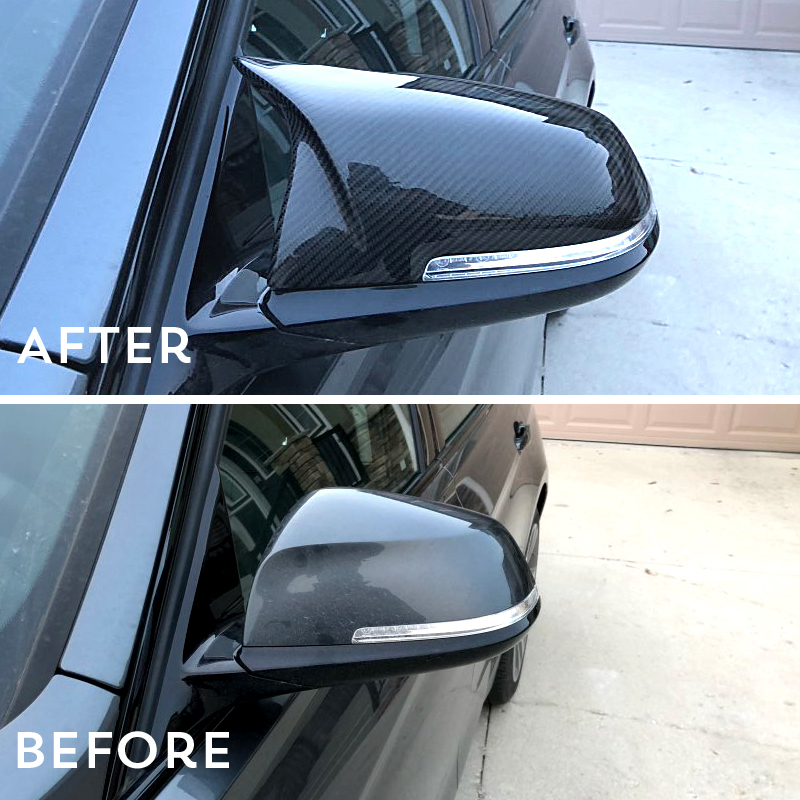 1: 1 Замена Стиль для BMW X3 F25 X4 F26 X5 F15 X6 F16 углеродного волокна боковые заднего вида Зеркало Обложка 2014 2017