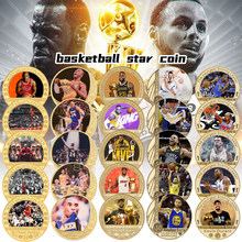 WR Basketball Legend Gold Plated Coin Sets Collectible Challenge Coin with Coin Holder Sports Souvenir Gift for Men Dropshipping