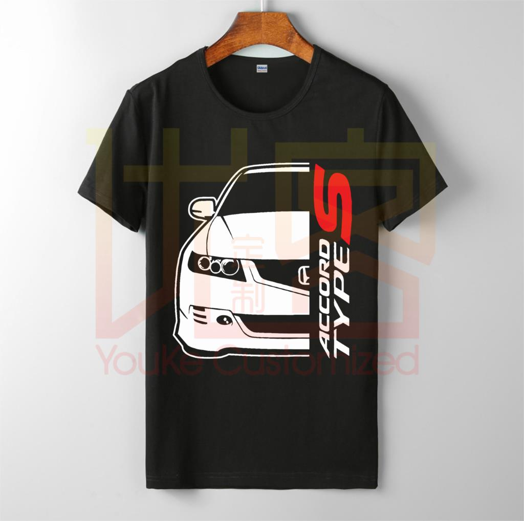 Unisex T-Shirt Custom-Printed Type-S Honda Accord Brand O-Neck High-Quality 100%Cotton title=