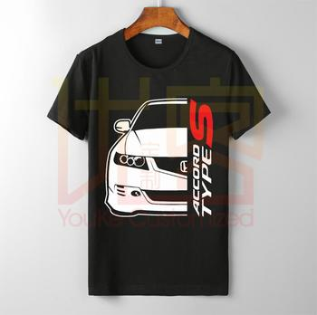 Honda Accord Type-s Tee Shirt Men's Hot Selling O-neck 100% Cotton Custom Printed High Quality Brand Unisex T-shirt