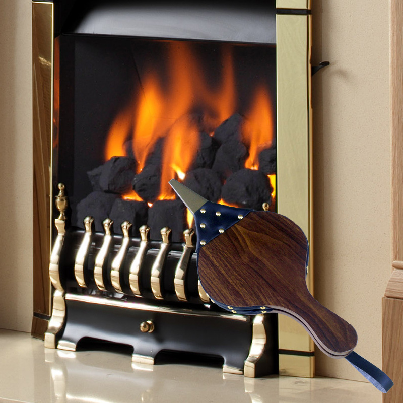 2020 New Fireplace Blower Air Volume Retro Bellows Pure Handmade Wood Outdoor Manual To Facilitate BBQ Tools