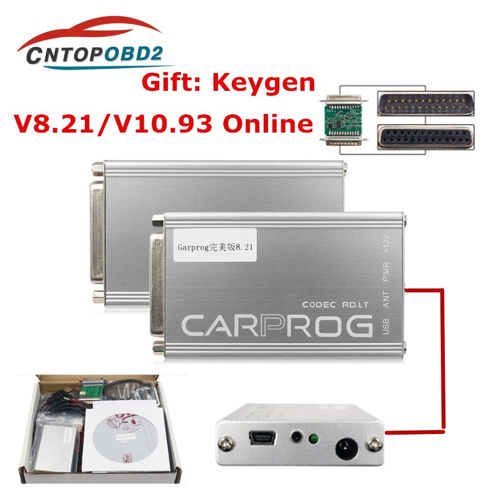 2019 бесплатный онлайн-генератор ключей Carprog FW V8.21 полный набор инструмент для ремонта автомобиля Prog 8,21 подушка безопасности/радио/приборная ...