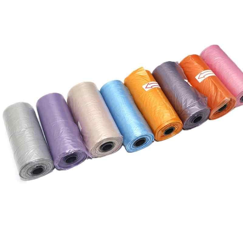 15pcs / roll biodegradabile di plastica pet sacco della spazzatura Inodore ambientale protezione casuale di colore del gatto e del cane pet toilette borsa