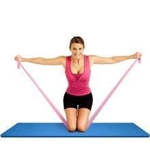 Женский тянущийся ремень для йоги, разноцветный пояс для фитнеса, упражнений, гимнастики, гимнастики, фигуры, талии, ног, сопротивления, фитнес-ленты для йоги, пояс