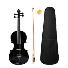 Черный 4/4 Размеры акустической гитары с возможностью подключения к чехол Лук канифоль для любителей музыки