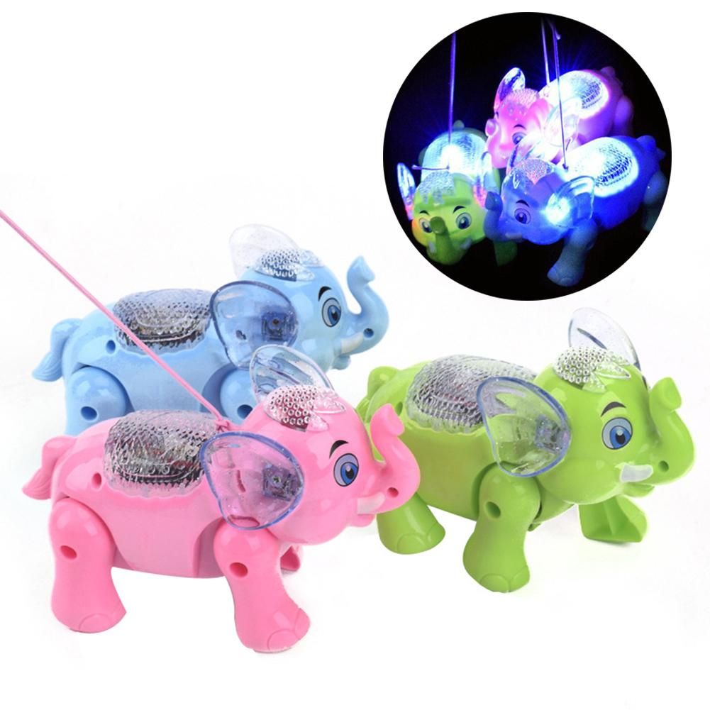 Funny Electronic Pets Kids Toy Cute Animals Musical Lighting Walking Elephant Animal With Leash Kids Toys For Children Xmas Gift