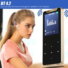 MP4 Audio Player Hot Selling Durable Support Radio Alarm Bluetooth 4.2 1.77 inch TFT Color Touch Screen FM Radio
