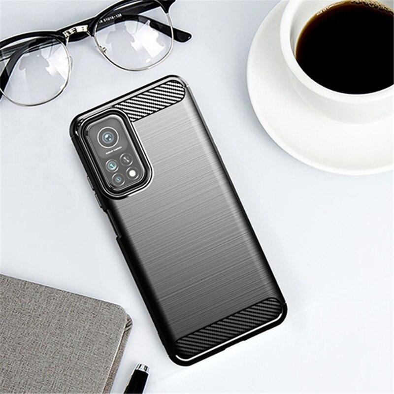 For Xiaomi Mi 10T Pro 5G Case Rubber Silicone Carbon Fiber Cover For Xiaomi Mi 10T Pro 5G Phone Case For Xiaomi Mi 10T Pro Case