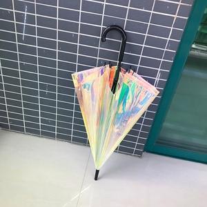 Ins Transparent Laser Umbrella