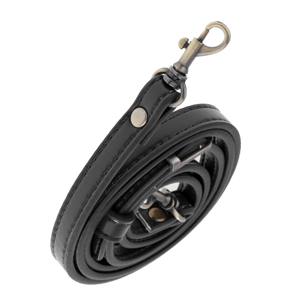 Adjustable PU Leather Replacement Handbag Shoulder Bag Strap Handle DIY Purse Making Bag Belt 1cm Wide