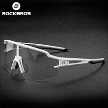 ROCKBROS Photochromic Cycling Glasses 자전거 안경 스포츠 남성용 선글라스 MTB Road Bike Eyewear Protection 고글 3 색