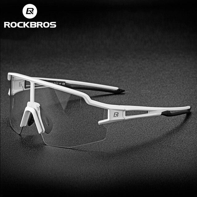 Rockbrosフォトクロミックサイクリングメガネ自転車メガネスポーツメンズサングラスmtbロードバイク眼鏡保護ゴーグル 3 色