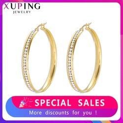 Xuping kolczyki-kółka biżuteria ze stali nierdzewnej styl europejski kariera Party eleganckie damskie prezenty S187.5-E-587